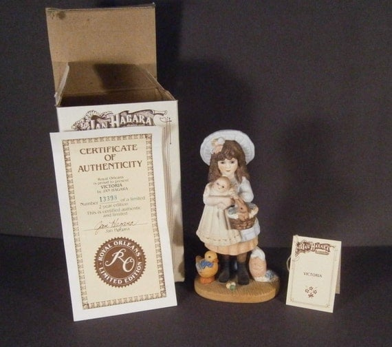 Jan Hagara Figurines: Jan Hagara Figurine Victoria 13398 1983 1984 Original Box