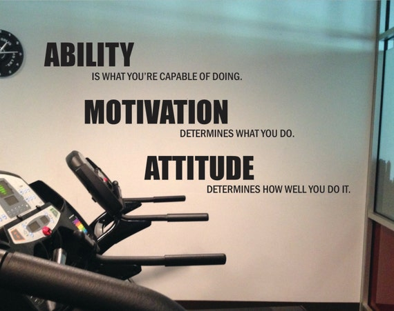 Gym Motivation, Lou Holtz Quote Gym Wall Decal. Ability, Motivation ...