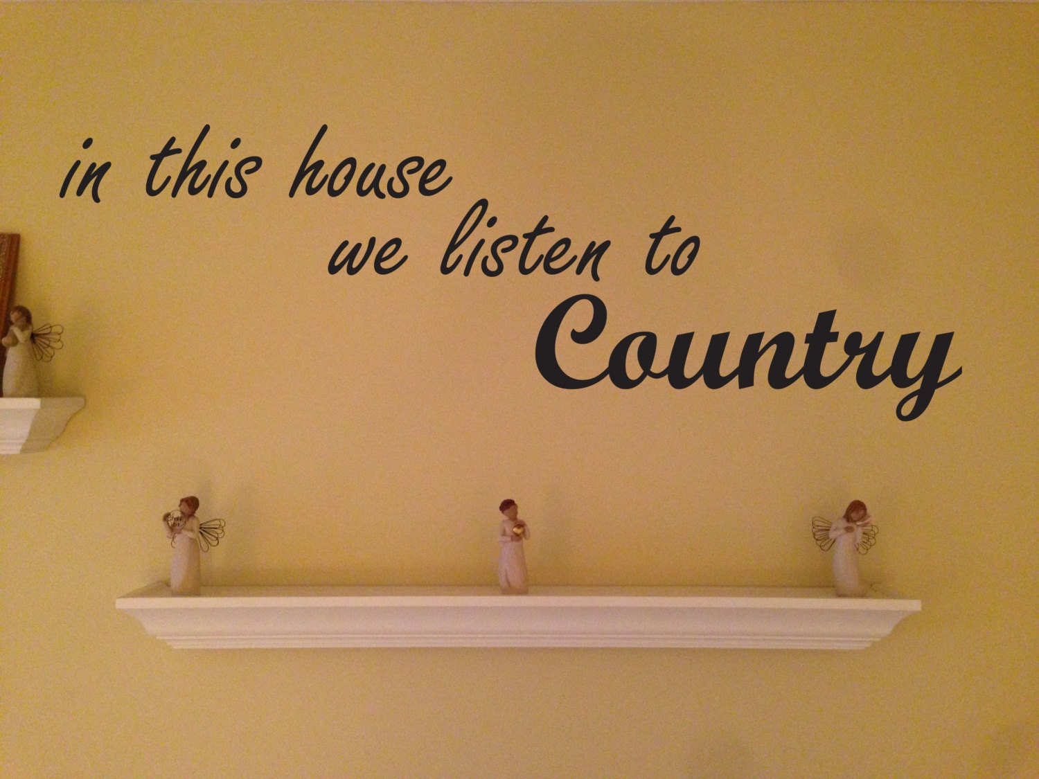 Country home decor in this house we listen to country vinyl wall country home decor in this house we listen to country vinyl wall decal amipublicfo Choice Image