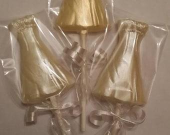 Wedding dress chocolate lollipop