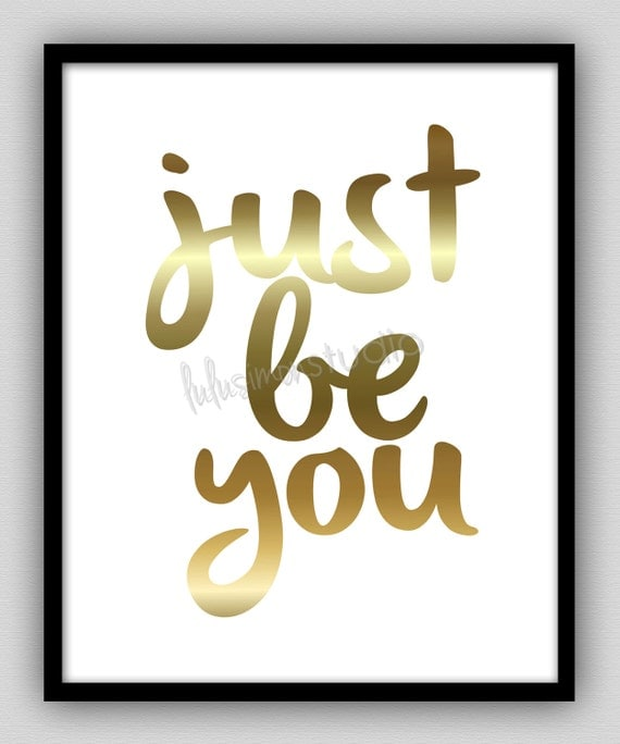 Just Be You Print Wall Decor Home Decor by lulusimonSTUDIO