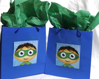12 - Super Why Birthday Party Plastic Favor Bags