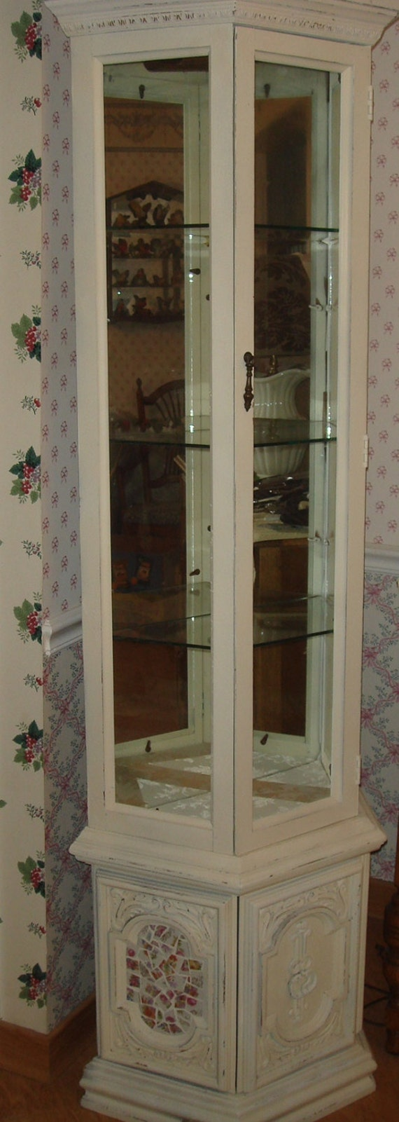 Items similar to shabby chic display case on etsy for Case arredate shabby chic