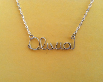 Personalized Name Necklace or Word Wire