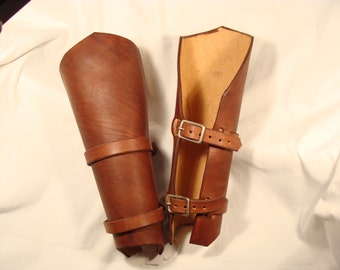 Pair of Leather Bracers Arm Guards LARP Steampunk armor
