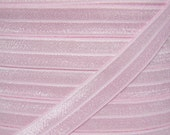 Light Pink Fold Over Elastic - Elastic For Baby Headbands and Hair Ties - 5 Yards of 5/8 inch FOE