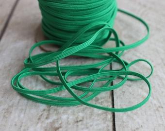 Emerald Green Skinny Elastic 1/8 inch - Elastic For Baby Headbands - 5 Yards