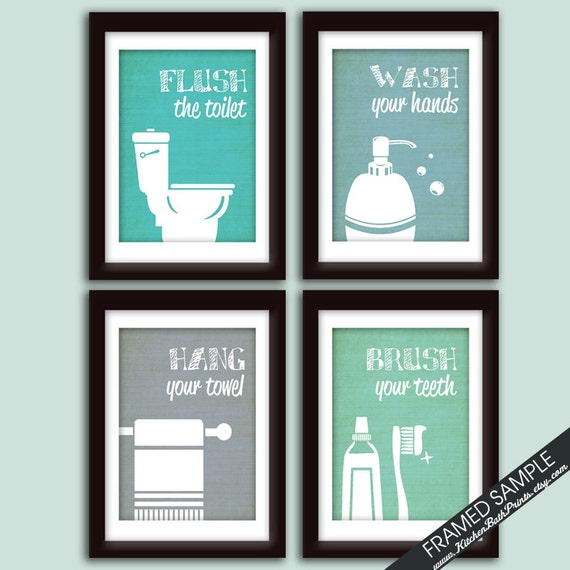 funny bathroom prints art print featured in brushed steel color k