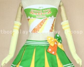Love live! Koizumi Hanayo Dress Cosplay Costume Custom Made
