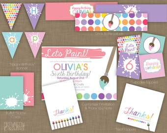 PRINTABLE Painting Party Decoration Kit