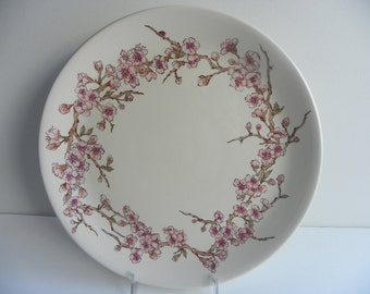Cherry Blossom Plate with Gloss Finish