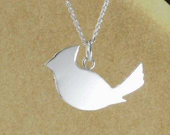 Northern Cardinal art jewellery handcrafted sterling silver necklace