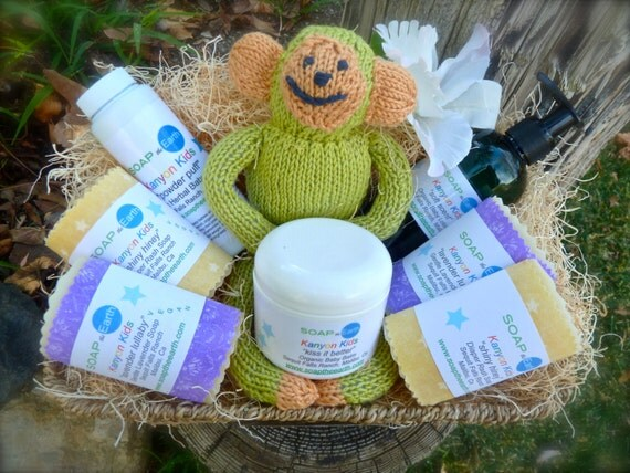 Baby Gift Basket Etsy : Items similar to deluxe baby gift basket with organic