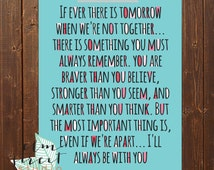 Winnie The Pooh Quote Print  Nursery Print Braver Than You Believe Quote  Child Print  Typography Print  Smarter Than You Seem