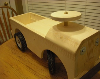 Dad's Pickup Truck/Child's Wooden Riding Toy