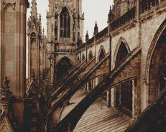 York Minster Cathedral PDF Cross Stitch Pattern