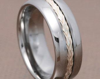 New NoamK  Tungsten  HANDMADE Hypoallergenic Men  Ring