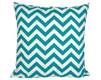 Pillowcase zigzag CHEVRON 40 x 40 cm turquoise and white