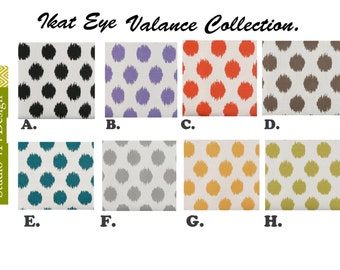 Ikat Valance. Ikat Valence. Ikat Window Treatment.Ikat Drapery .Ikat window curtain. Ikat Curtain.