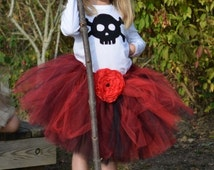 Custom couture sewn ballerina short tutu COSTUME HALLOWEEN PIRATE