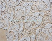 Nude lace fabrics 120cm width cotton bride franch dress fabric beautiful hollow embroidery dress fabric by the yard