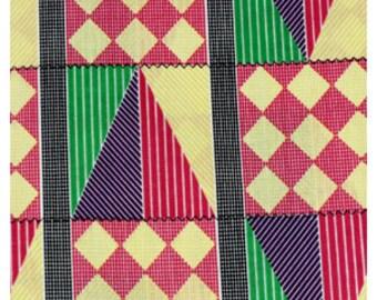 PINK / GREEN MULTI Kente traditional print