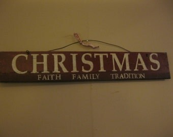 Sign: Christmas Faith Family Tradition