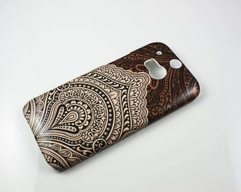 Bali HTC One M8 M9 Hard Shell Skin Cover Case Wallet