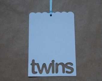 25 Wish Tree Tags, Twins, Baby Shower Wish Tree Tags, Favor Tag, Blue, Pink, Wishes for Baby, Wishing Tree, Twins Baby Shower, It's Twins