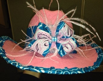 Over-the-top Pink & Teal Child's Cowgirl Hat