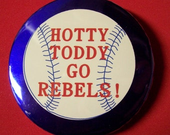 Ole Miss Hotty Toddy Go Rebels Baseball Pin 2 1/4 in