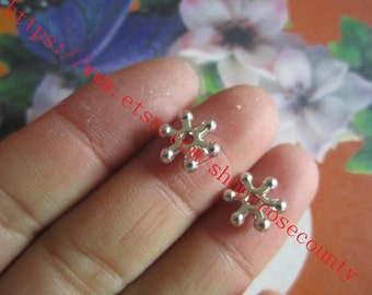 wholesale 100pcs 10mm silver daisy flower spacer beads findings