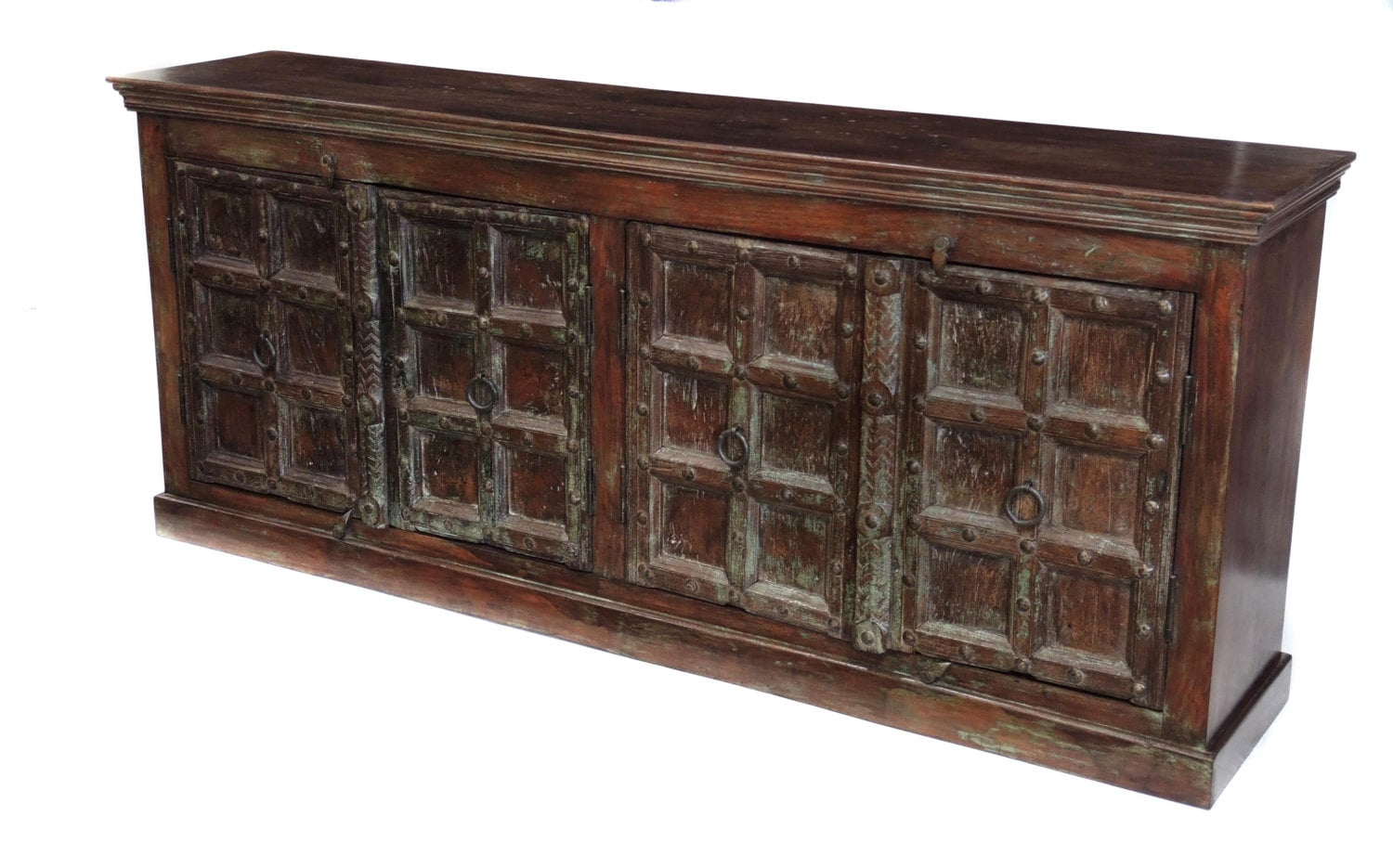 Indian sideboard cabinet with antique doors by terra nova for Sideboard indien