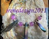 Beautiful Silver Necklace with Facetted Amethyst & Titanium by IreneDesign2011
