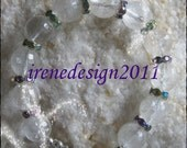 Beautiful Handmade Silver Bracelet with Facetted Rock Crystal & Swarovski by IreneDesign2011