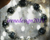 Beautiful Handmade Silver Bracelet with Facetted Labradorite by IreneDesign2011