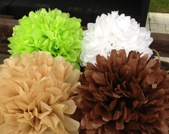 Set of 50 tissue paper pompoms / wedding / paper pompoms / flower pompoms / tissue paper pom poms / kids room decor / hanging poms-pom