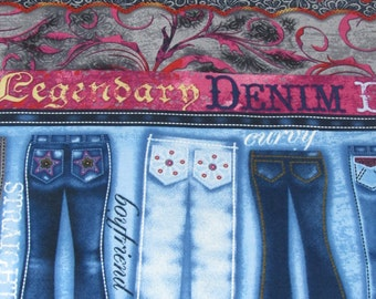 Per yard, Diamonds and Demin Strip Fabric Collection jeans