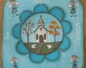 PATTERN for Angels, Primitive Church, OFG, FAAP, Penny, Spiritual, primitive, Blue, sheep, fall