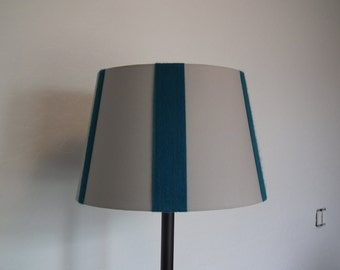 Gray and turquoise embellished lampshade