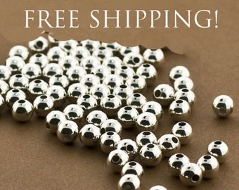 8mm Round Sterling silver Beads, 25 PCS,  Sterling Silver Beads, 8mm Sterling Silver Beads, Seamless Round Beads, .925 Sterling