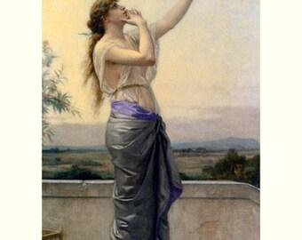 """8x10"""" Cotton Canvas Print, Alexander Cabanel, Loves Messanger, Romanance, Portrait, Female"""