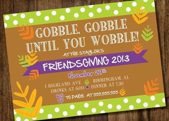 Friendsgiving Thanksgiving Invitation