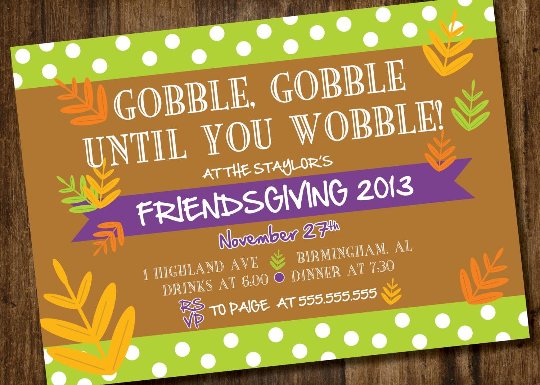 Friendsgiving Invitation for nice invitation sample