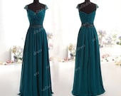 hunter green prom dresses, elegant prom dresses, long prom dresses, cap sleeve prom dresses, prom dresses, evening dresses, BE0420 - sofitdress