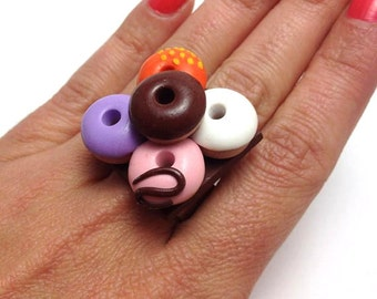 Mini Food Jewelry, Cute Ring, Adjustable Ring, Miniature Food, Statement Ring, Unique Jewelry, Unique Jewelry Gift, Handmade Ring, Miniature