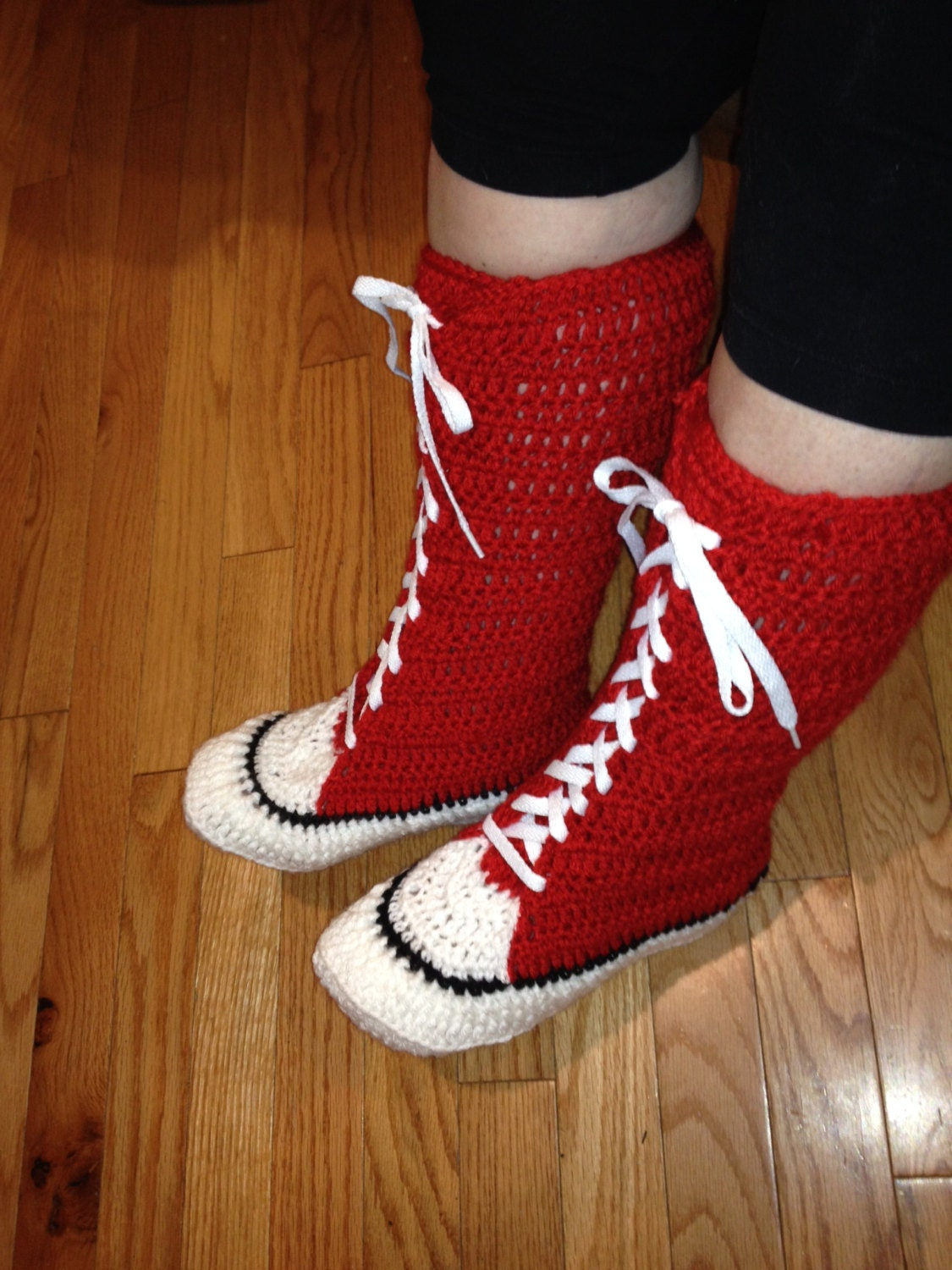 PATTERN ONLY Crochet converse Boots