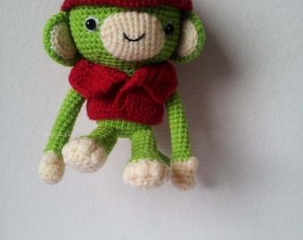 Monkey Key Chain / Backpack Zipper Pull / Crochet