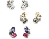 Romantic earring for daily 3colors(white , champagne , violet)