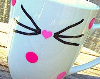 Cat Nose Coffee Mug; Cat Lover Mug; Cat Lady; Dog Mug; Dog Lover Mug